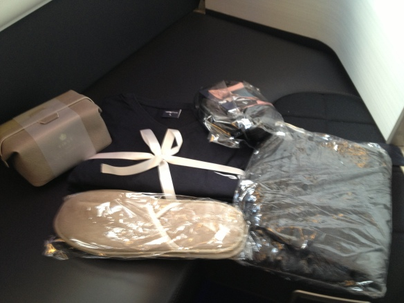 BA First Class Amenities
