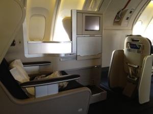 BA Business Class 747