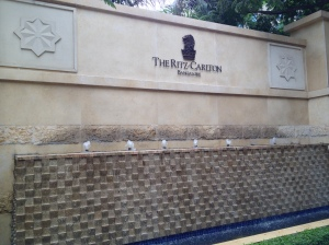 Ritz Carlton Bangalore Entrance