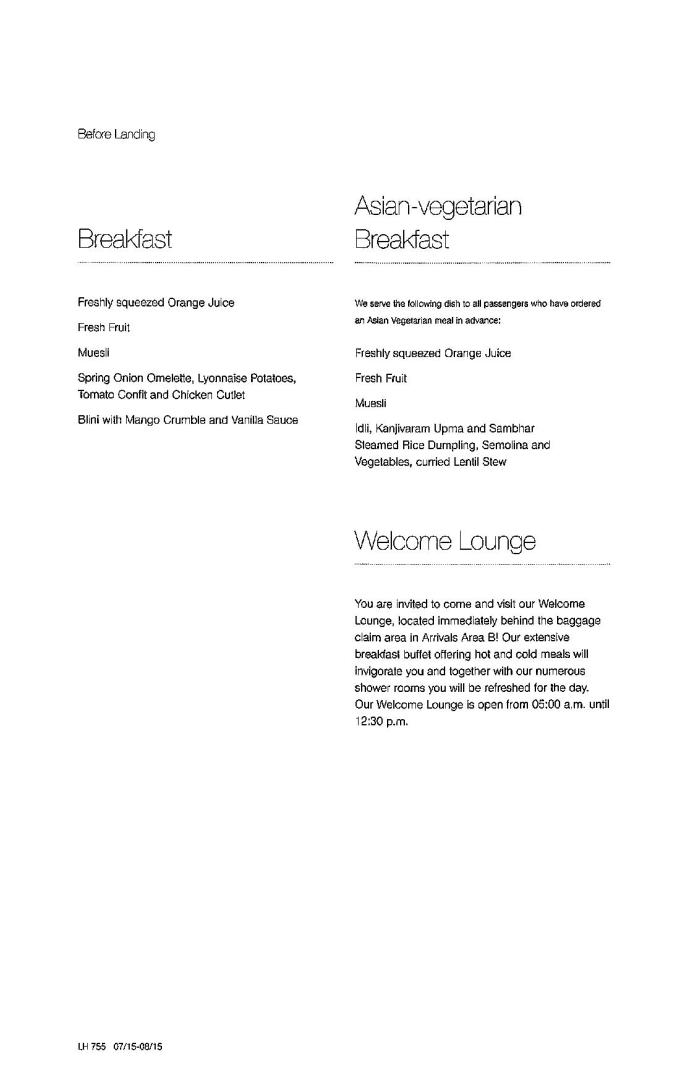 Lufthansa Business Class Menu - BLR to FRA-page-009