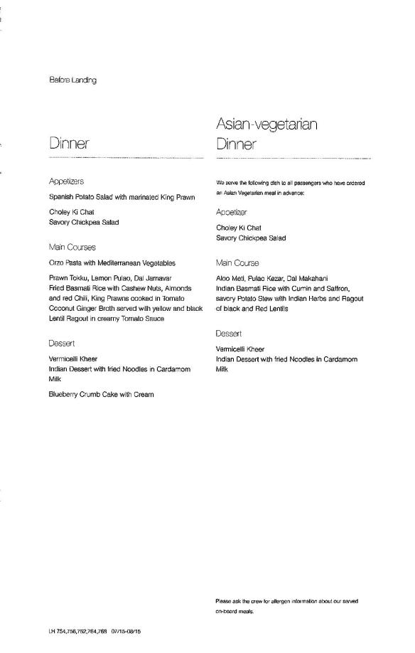 Lufthansa Business Class Menu - FRA to BLR-page-009
