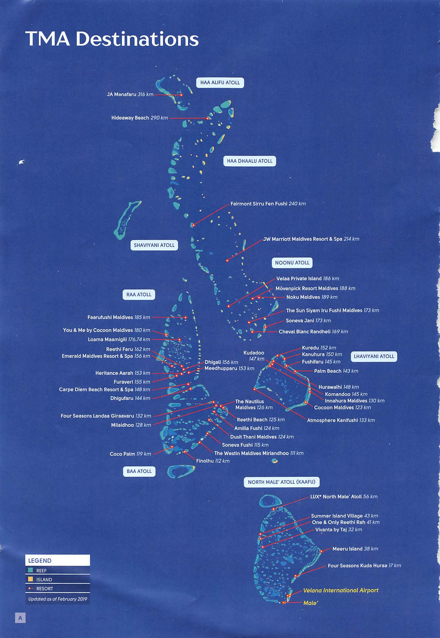 Trans Maldivian Airways Tma Map Of Maldives Island