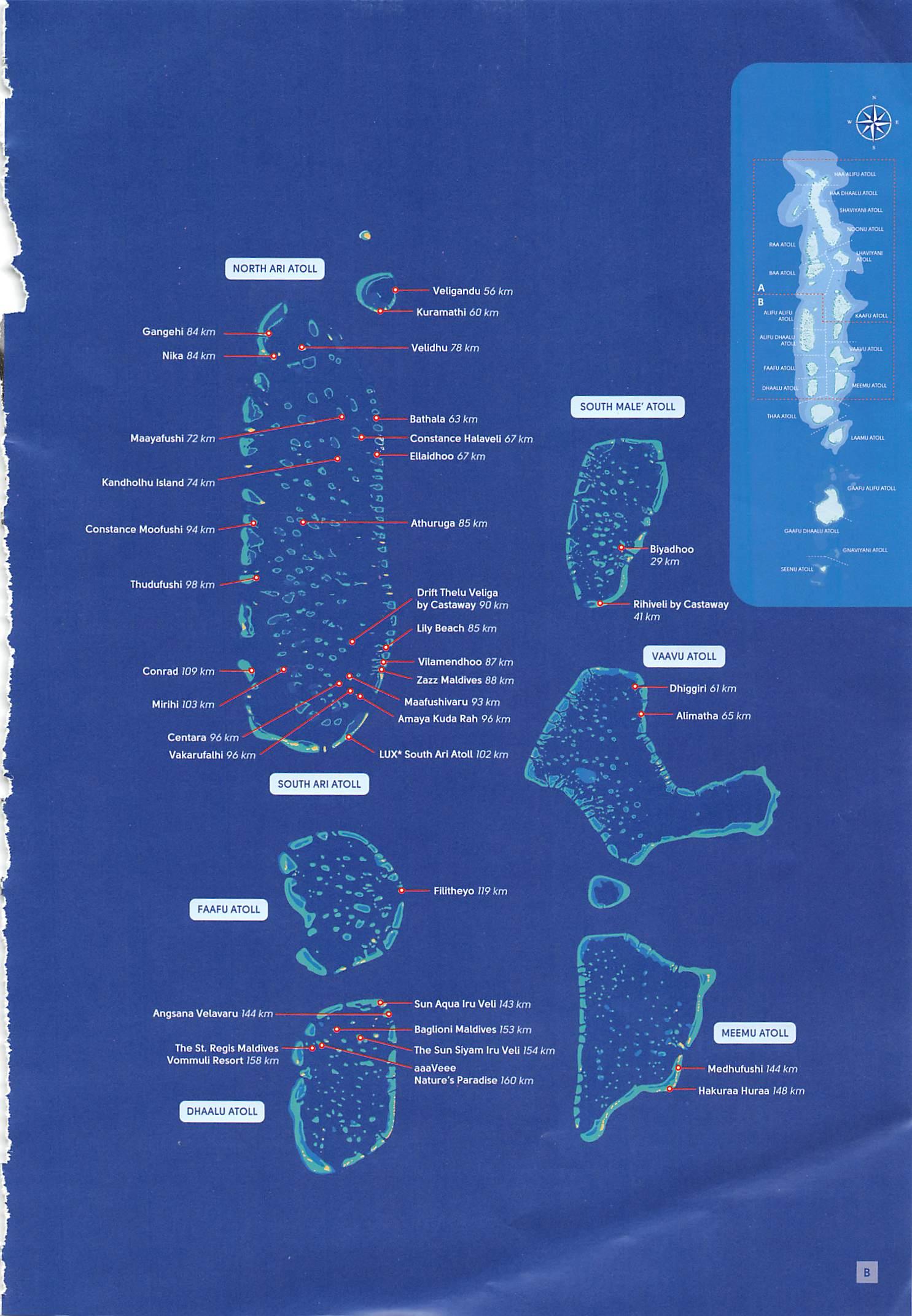 Trans Maldivian Airways (TMA) – Map of Maldives Island ...